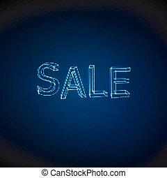 Sale. Neon 3D sign.