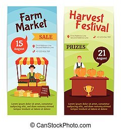 Harvest Farm Vertical Banners
