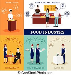 Restaurant People Design Concept - Food industry design...