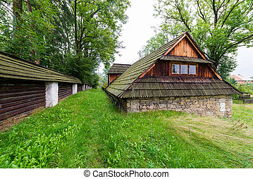 Traditional stone granary - the old manor cellar typical for...
