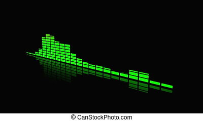 audio spectrum animation