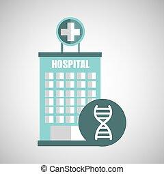 edificio, ADN, Ciencia,  hospital, Medicina, icono