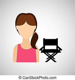 woman character chair director film