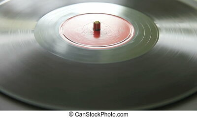 old 78 rpm record - vintage Chinese recording on a turntable