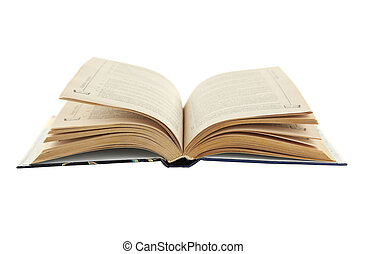 Open book isolated on white