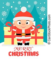 Merry Christmas vector illustration