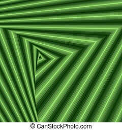 Whirling sequence with green triangle forms - Concentric...