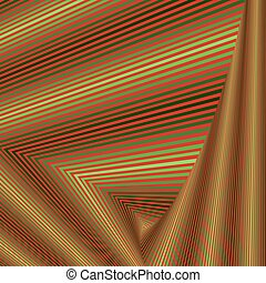 Whirling sequence with green and red triangle forms -...