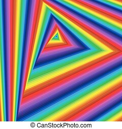 Twisted sequence with spectrum triangle forms - Concentric...