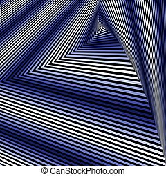 Whirling sequence with blue and white triangle forms -...