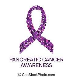 Pancreatic cancer ribbon poster - Pancreatic cancer...