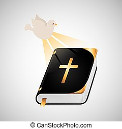 holy spirit bible icon design vector illustration eps 10