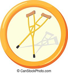 Vector flat insurance icons. Insurance accident. Round...