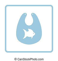Bib icon. Blue frame design. Vector illustration.