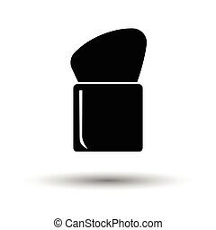 Make Up brush icon. White background with shadow design....