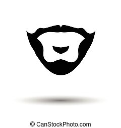 Goatee icon. White background with shadow design. Vector...