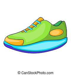 Athletic shoe icon, cartoon style - icon. Cartoon...