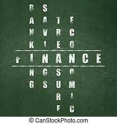 Banking concept: Finance in Crossword Puzzle