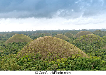 Chocolate Hills - very prominent and famous tourism...