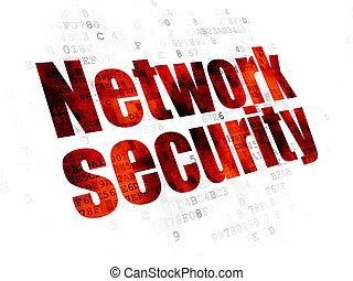 Safety concept: Network Security on Digital background