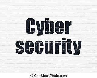 Privacy concept: Cyber Security on wall background - Privacy...
