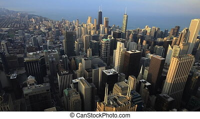Aerial view of the Chicago skyline - An Aerial view of the...
