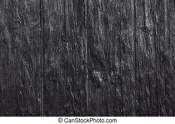 black planks - Background photo of old and textured black...
