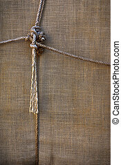 sackcloth background - background of sackcloth wrap tied up...