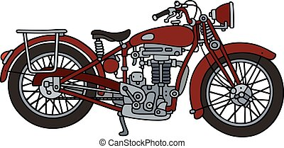 Classic red motorcycle