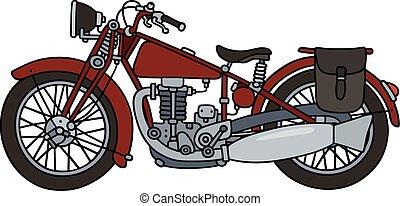 Vintage red motorcycle