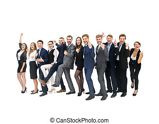 Business People Corporate Success Concept - Group of...