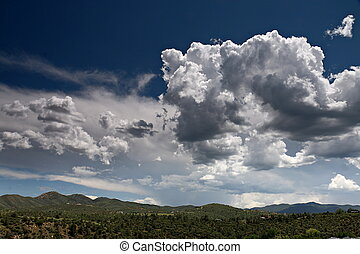 Partly Cloudy Skies over Prescott Valley, Arizona -...