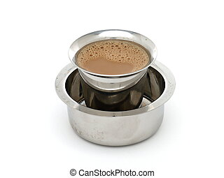 Madras Coffee in Traditional Indian Tumbler and Devorah -...