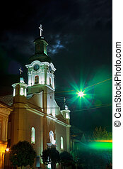 Night view of Roman Catholic Cathedral St. George in...