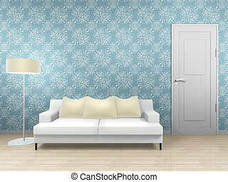 living interior - This graphic is living interior. 3d...