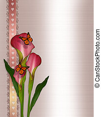 Calla lilies and butterflies - Image and illustration...