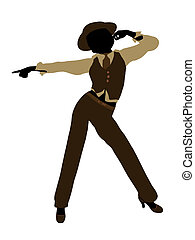 Female Jazz Dancer Silhouette - Female jazz dancer...