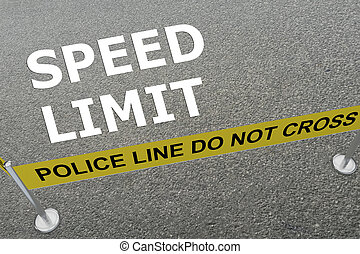 Speed Limit concept - 3D illustration of 'SPEED LIMIT' title...