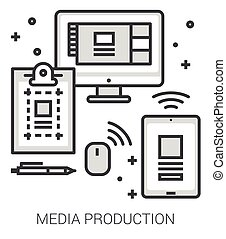 Media production line infographic. - Media production...