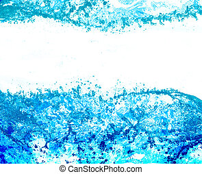 pure water - stream of pure water on white background