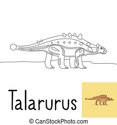 Coloring page for kids with Talarurus