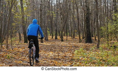 Sportsman riding in the park. - Sportsman riding in the park...