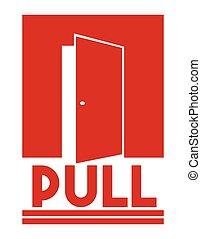 Door sign - push
