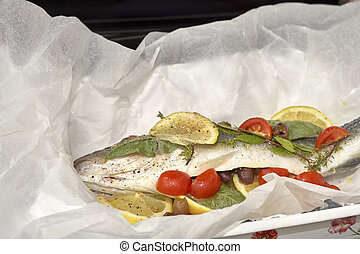 european sea bass ready for cooking in my house