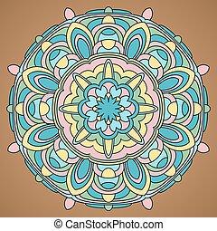 Mandala-35 - Multicolored Vector Mandala. Mandala vector for...
