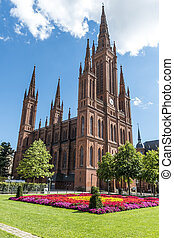 Marktkirche in Wiesbaden, Germany. The main Protestant...