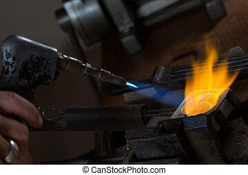 Metal Casting with blowtorch