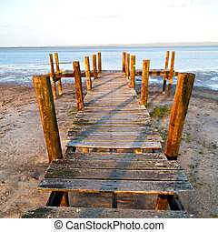 in south africa     nature  reserve and pier