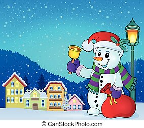 Christmas snowman topic image 7 - eps10 vector illustration.