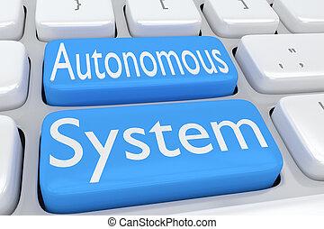 Autonomous System concept - 3D illustration of computer...